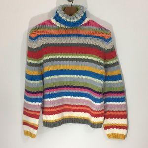 Kate Hill Casual Multicolor Stripe Sweater